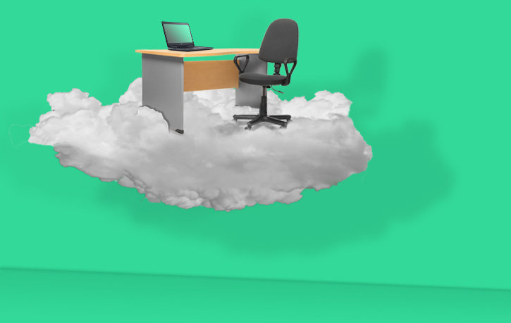 Flying office - Users profiles are saved on the cloud